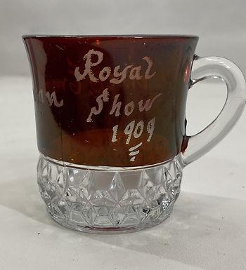 1909 Ruby Red Souvenir Glass