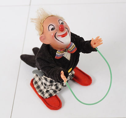 C Original Wind-up Jumping Clown - Ca 1950s