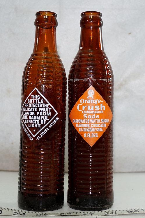 Orange Crush Bottle Brown with Orange Label
