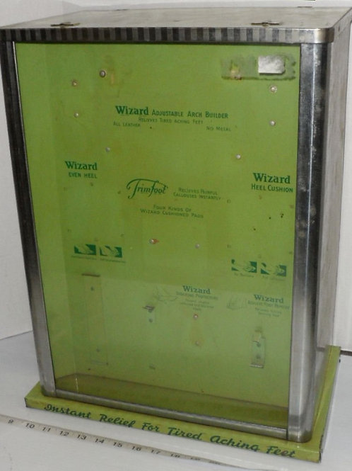 """Chrome & Green Display Cabinet """"Wizard"""""""