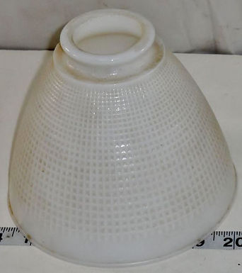 8in Milk Glass Torchiere Lamp Shade with 2-1/4in Fitter