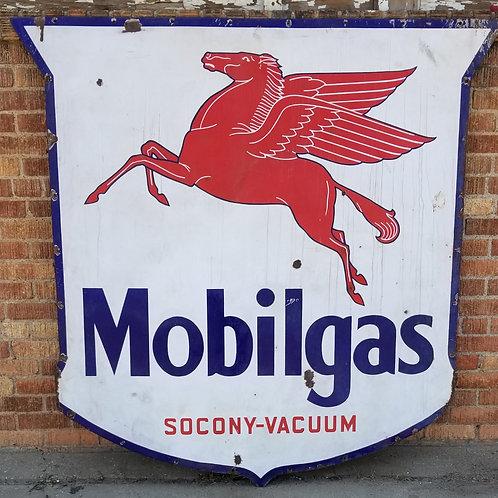 Mobilgas Pegasus Socony Vacuum Porcelain Dealer Sign