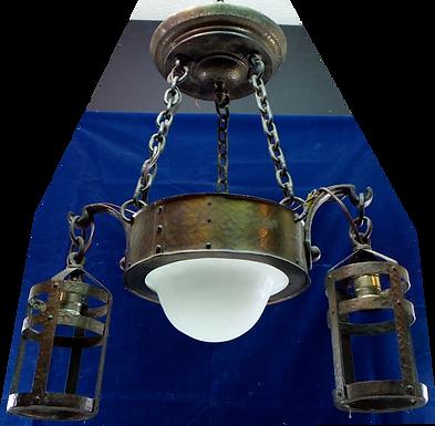 Arts And Crafts Hand-hammered 3 Lights Chandelier