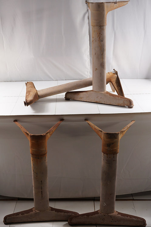 Pair Industrial Table Legs