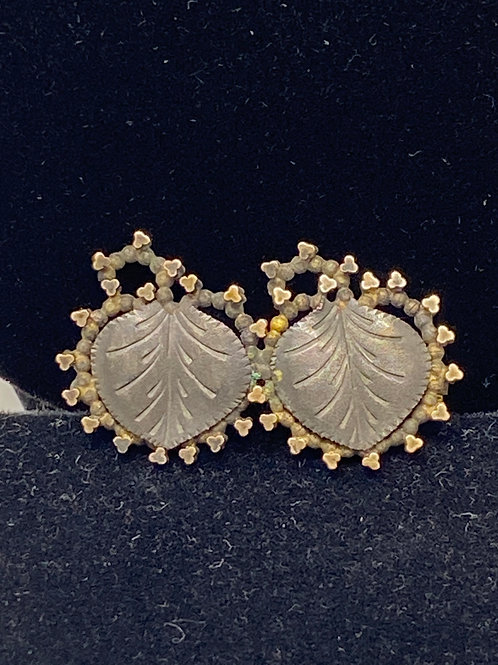 Victorian Double Leaf Pin