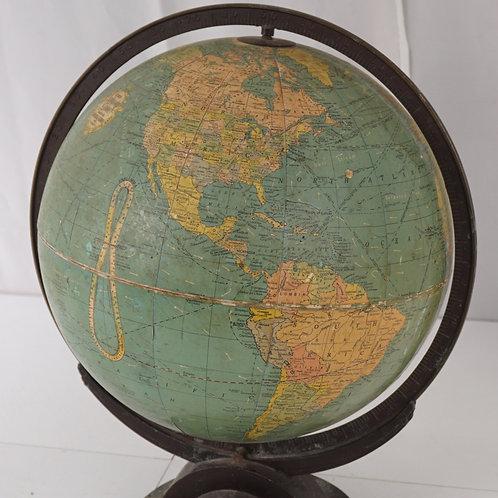 12in Terrestrial Globe Mfg By Replogle Globes Inc Ca 1930s