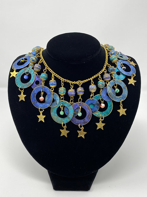 Necklace with Beads, Stars and Circles