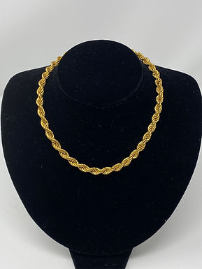 """70-80s Twisted Rope Necklace 15"""""""
