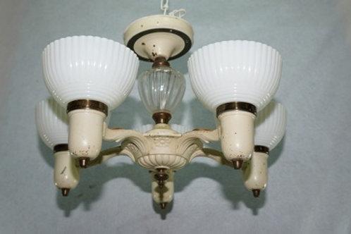 5 Light Art Deco Slip Shade Chandelier