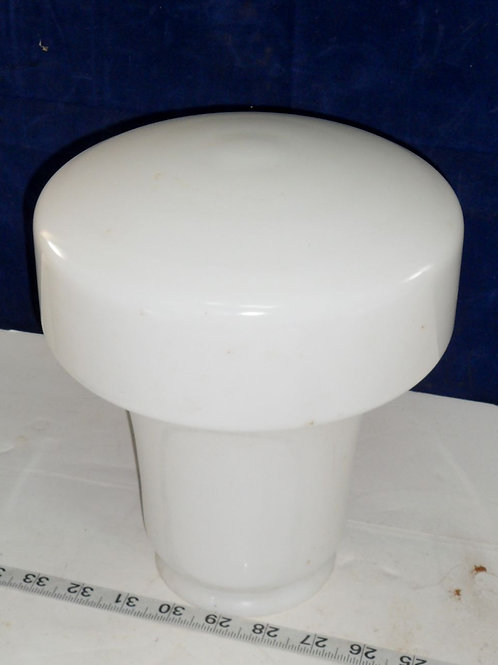 Art Deco Milk Glass Shade 8in x 4in Fitter