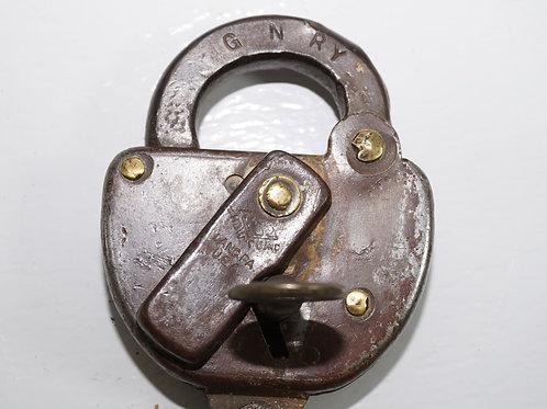1937 G N R Y Railroad Padlock With Key