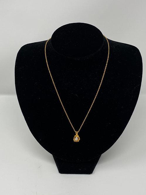 Vintage Opal Pear-Shaped Nugget Pendant Necklace
