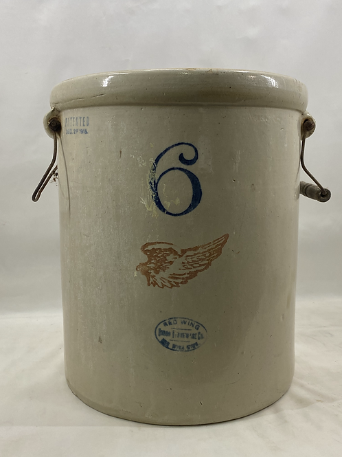 6 Gallon Red Wing Crock