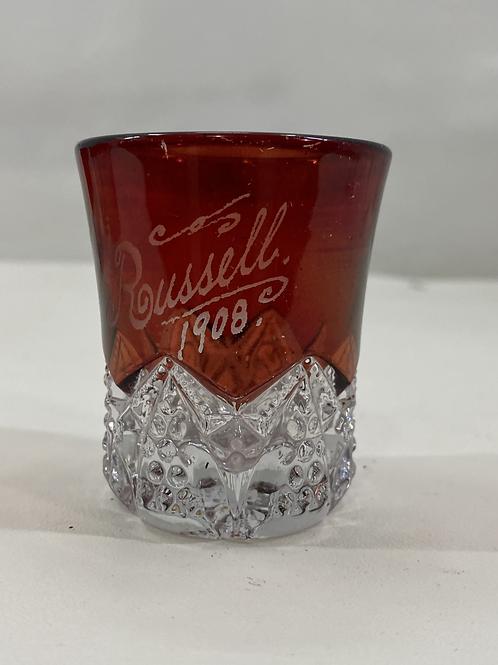 1908 Ruby Red Souvenir Glass