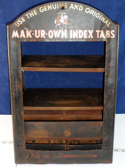 Advertising Tin Display Case by Victor Safe and Equipment