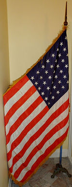 American Flag with Wooden Pole