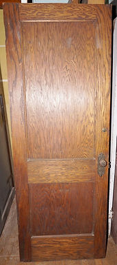 2-Panel Oak Door With Hardware