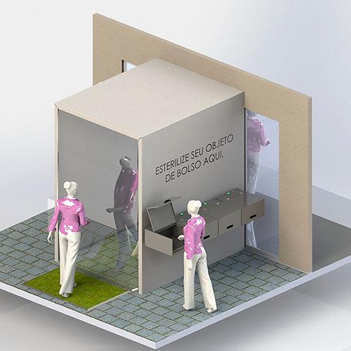 Túnel de passagem para esterilização Cavitacao LONA / Sterilizer Tunnel Canvas