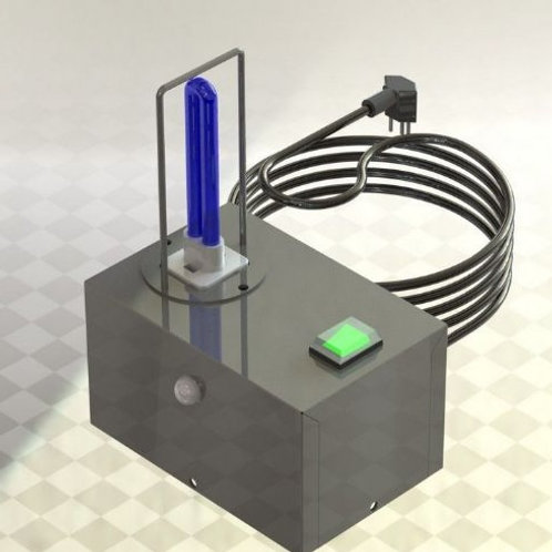Esterilizador de ambientes – 1 Lâmpada