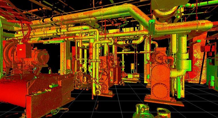 3D scan point cloud