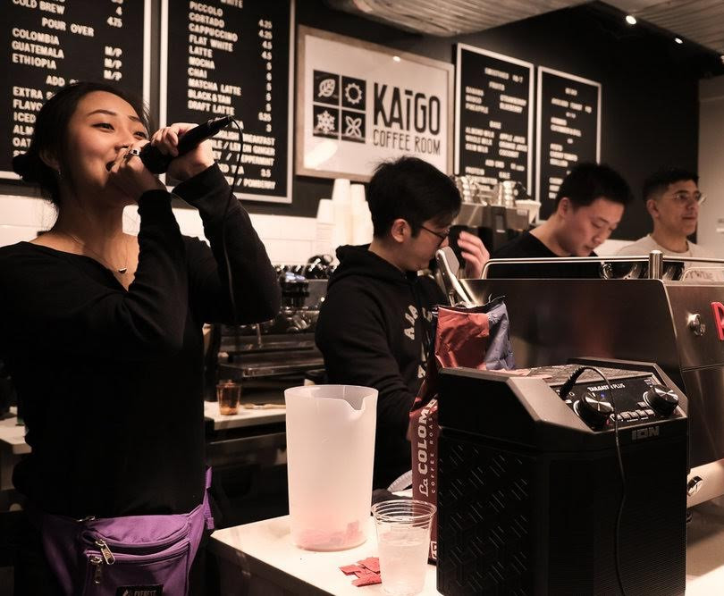 MC-ing at Kaigo Coffee Room's 2019 Throwdown