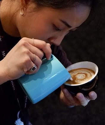 ChiWen competing at CoffeeFest NY 2019