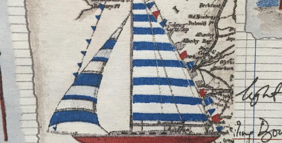 Postal Ships - Red White & Blue