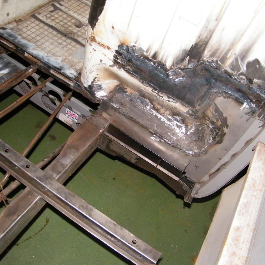 Floor panel work