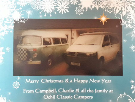 Merry Christmas and a Happy New Year from all of us at Ochil Classic Campers