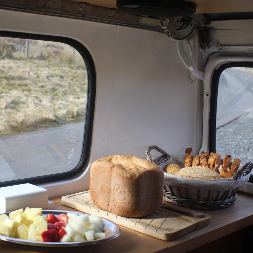 Homemade Bread & Fruit