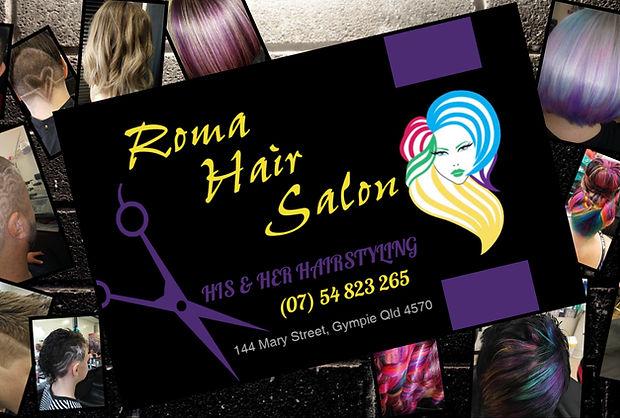 Roma Hair Salon Card