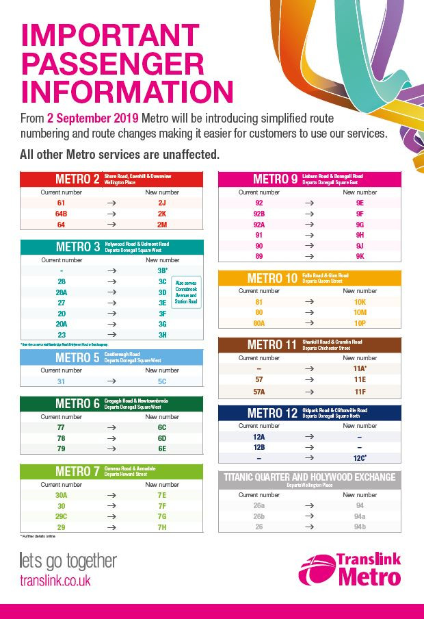 School Buses - Changes to Translink Metro Services
