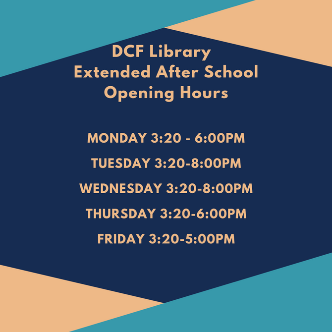 For Year 11- 14 - Extended Library Opening Hours