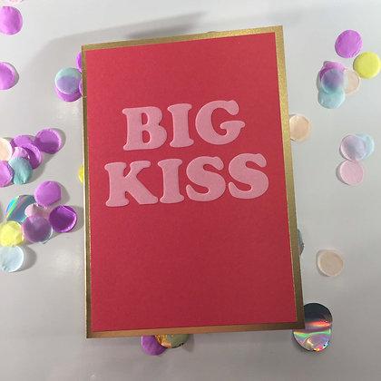 Postco Letterpress Big Kiss