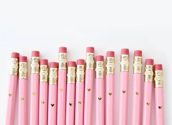 Inklings Paperie 12er rosé Herz Bleistifte