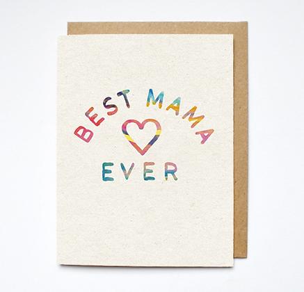 Daydream Prints Best Mama Karte