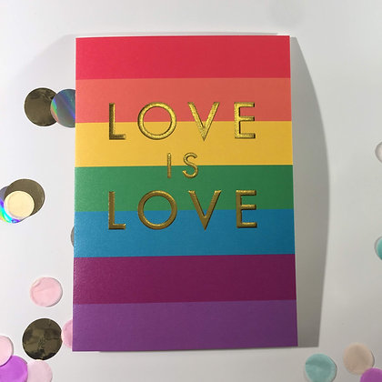 Postco Letterpress Love is Love
