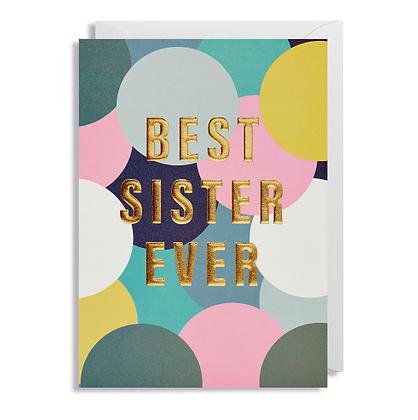 Postco Letterpress Best Sister Ever