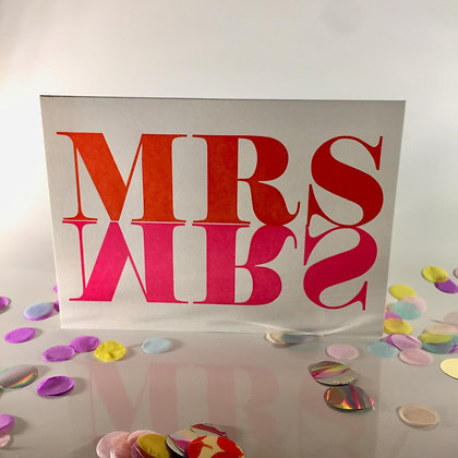 1973 Letterpress Mrs&Mrs