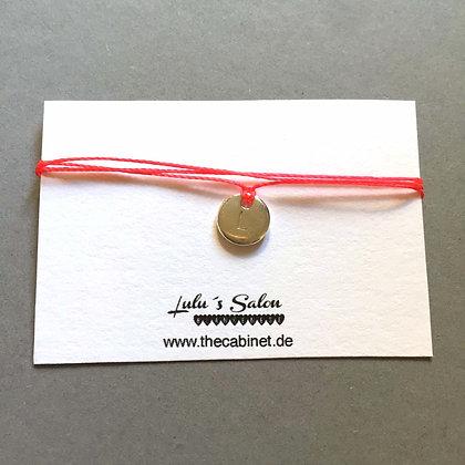 Lulu´s Salon Initial Wrap Armband L silber