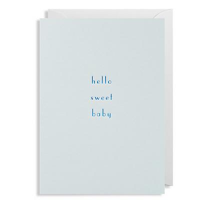 Postco Letterpress Hello sweet Baby blue