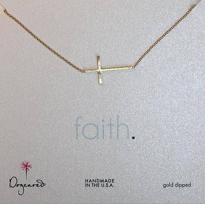 Dogeared Halskette mit vergoldetem Kreuz