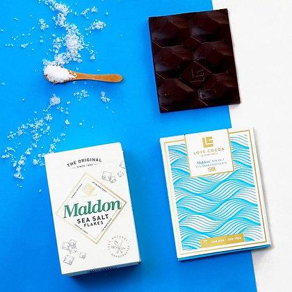 Love Cocoa Maldon Sea Salt Schokolade