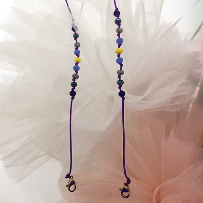 Merci Cheri Yellow Purple Maskenkette by Lulu´s Salon