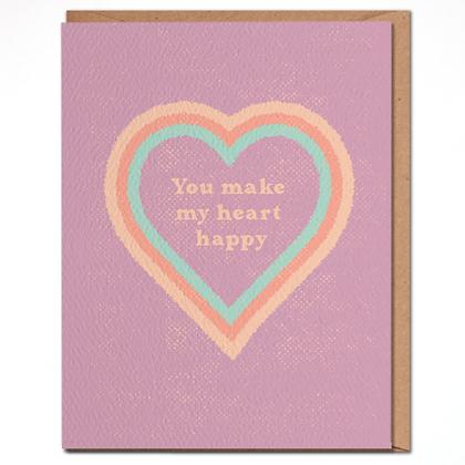 Daydream Prints Happy Heart Karte