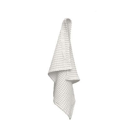 The Organic Company Handtuch aus Waffel Piqué Natural White