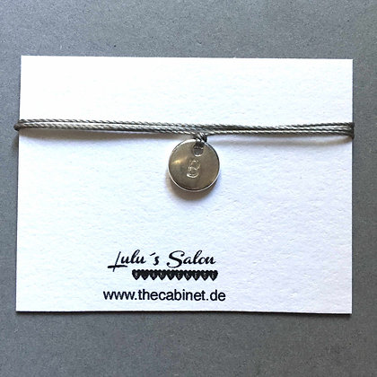 Lulu´s Salon Initial Wrap Armband B silber