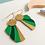Thumbnail: Rose Bouchon Golden Green Ohrhänger