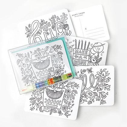Inklings Paperie Ausmal Postkarten