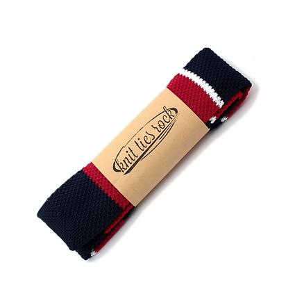 Knit Ties Rock rot blaue Streifen Tie